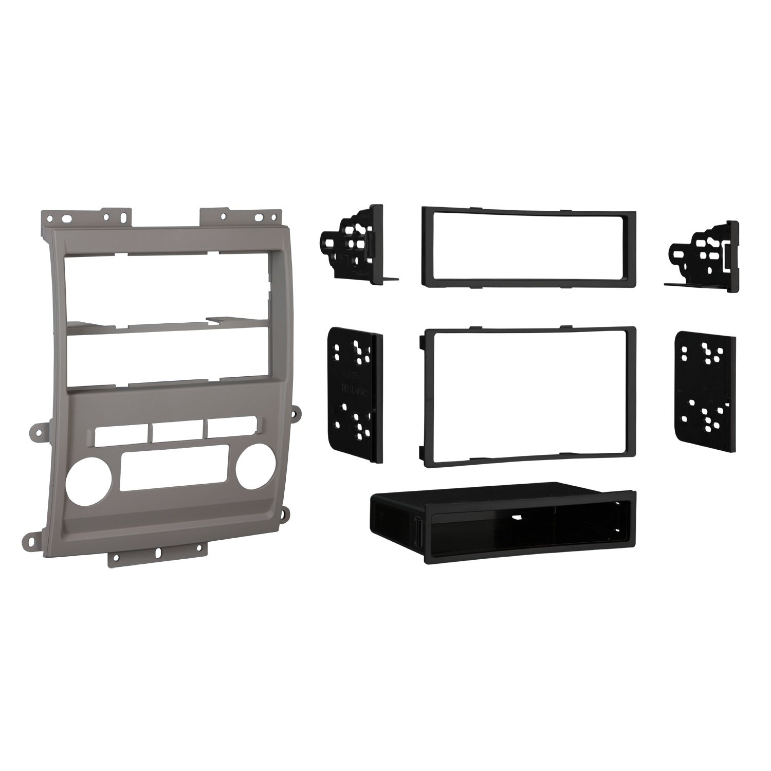 Metra 99-7428G Double DIN/ISO DIN Installation Dash Kit for 2009 Nissan Frontier LE/SE (Gray)