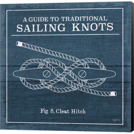 Vintage Sailing Knots VII by Mary Urban, Canvas Wall Art (Vintage Knot)