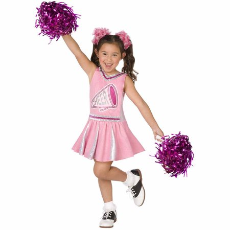 Pink Cheerleader Child Halloween Costume - Cheerleader Kids Costume