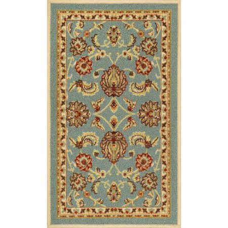 Well Woven Kings Court Tabriz Traditional Blue Area Rug