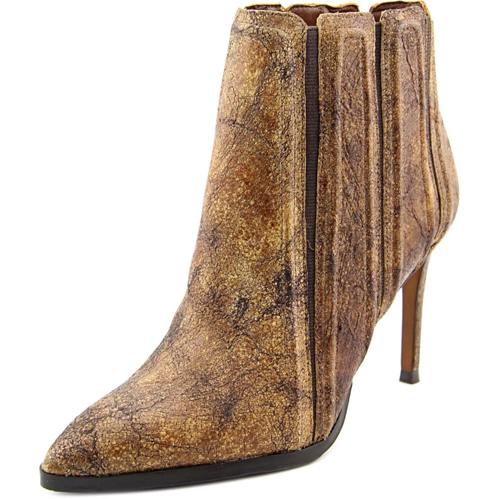 Donald J Pliner Prim-58 Women Pointed Toe Synthetic Brown Heels by Donald J Pliner