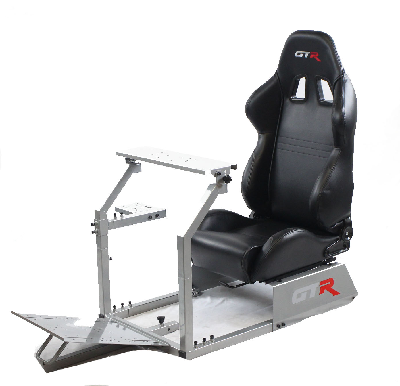 GTR Racing Simulator - GTA Model with Real Racing Seat, Driving Simulator Cockpit Gaming Chair with Gear Shifter Mount