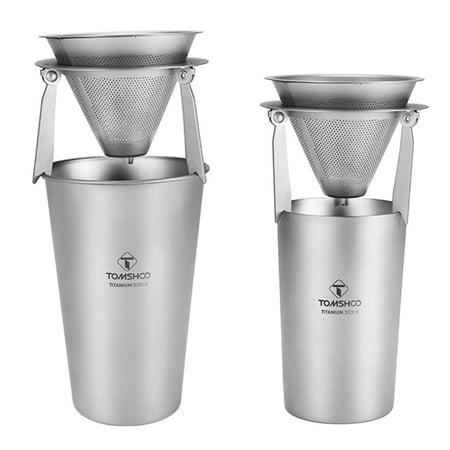 Titanium Single-Wall and Double-Wall Beer Cup Set 300ml 10oz 500ml 17oz - image 2 de 7