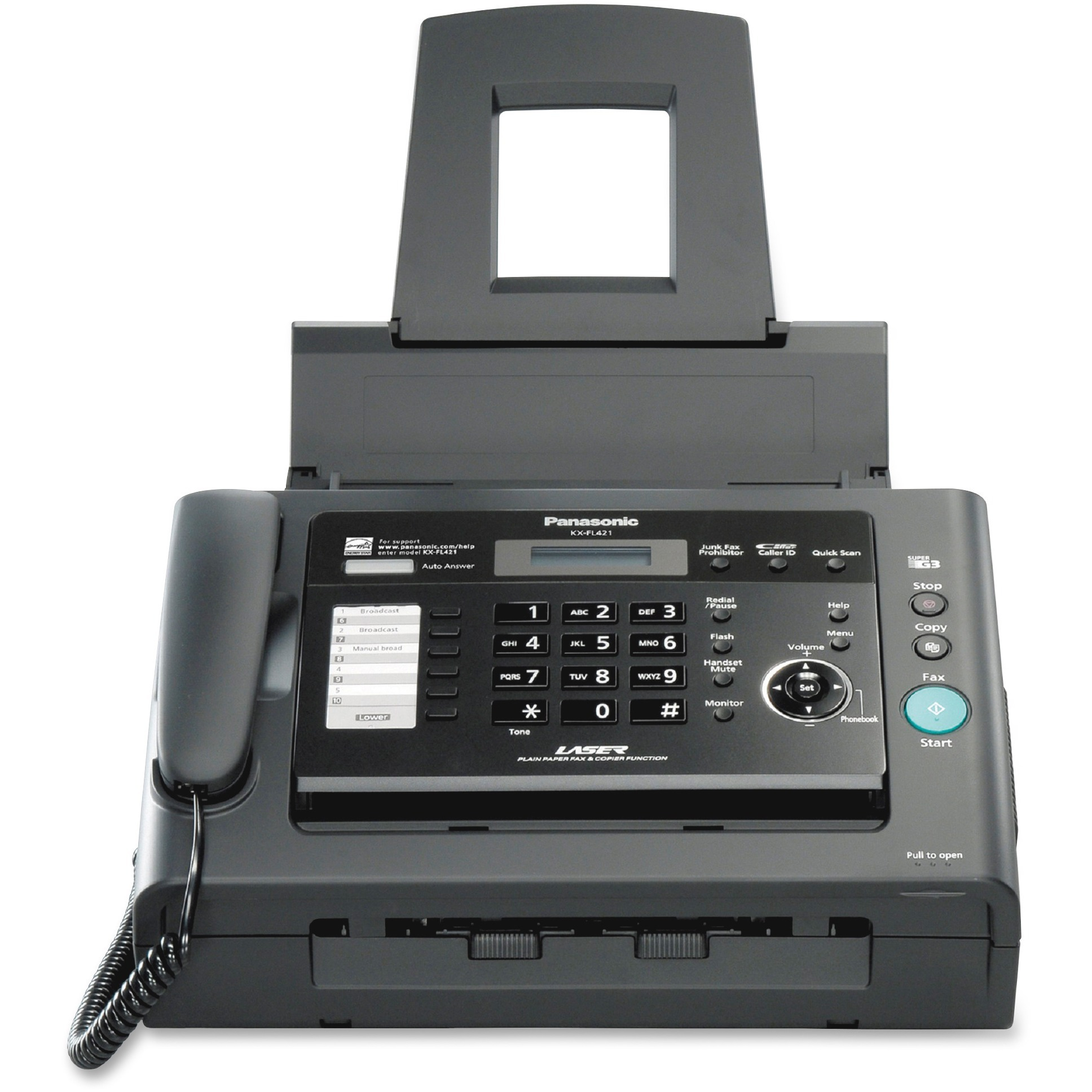 Panasonic, PANKXFL421, KX-FL421 Laser Fax Machine by Panasonic