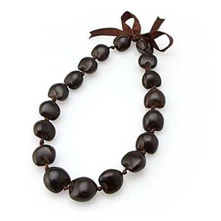Choker 18 Inch 18 Kukui Nuts Brown ()