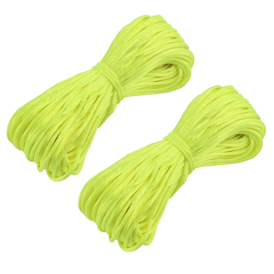 Festival Nylon Craft DIY Chinese Knot Cord String Green Yellow 22 Yards 2pcs