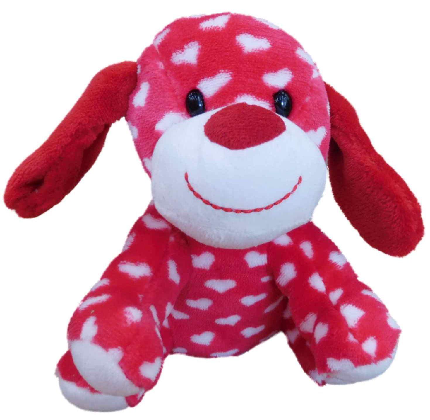 Celebrate Plush Puppy Dog Stuffed Animal Valentine 7 Red Heart Pup