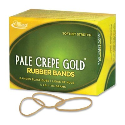 Pale Crepe Gold Rubber Band ALL20169