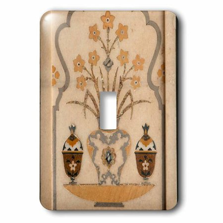 3dRose Marble inlay, Tomb of Itimad-ud-Daulah Baby Taj, Agra, India., Single Toggle (Best Electrical Switches For Home In India)
