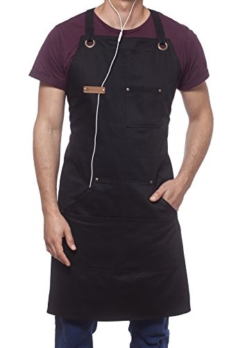 UNISEX BLACK PRINTED NOVELTY APRON GREAT FOR BBQS SHOWING NATURAL BORN GRILLER