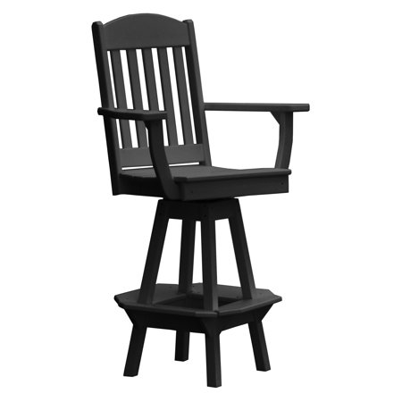 Recycled Plastic Bar - Radionic Hi Tech Rochester Recycled Plastic Swivel Bar Height Patio Arm Chair