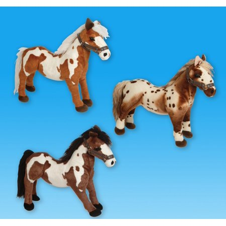 "19"" STANDING HORSE PLUSH, Case of 3"