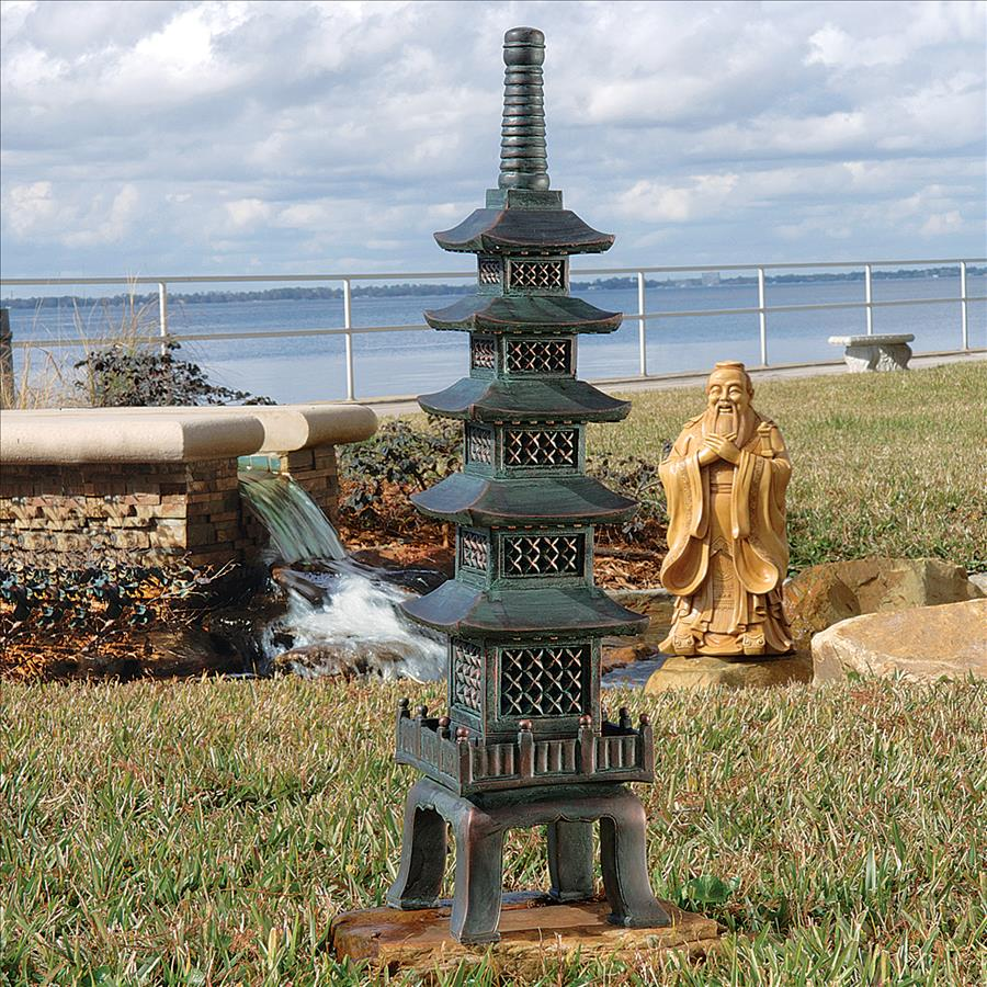 Bon The Nara Temple Asian Garden Pagoda Sculpture: Large