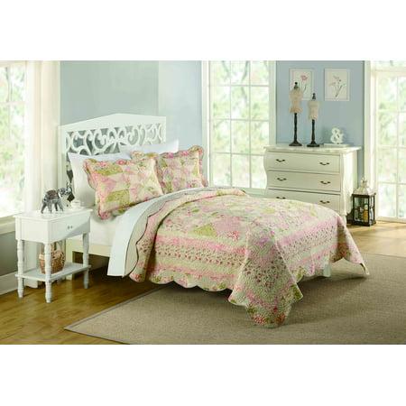 Better Homes and Gardens Romantic Floral Full/Queen Quilt, (Romantic Garden Quilt)