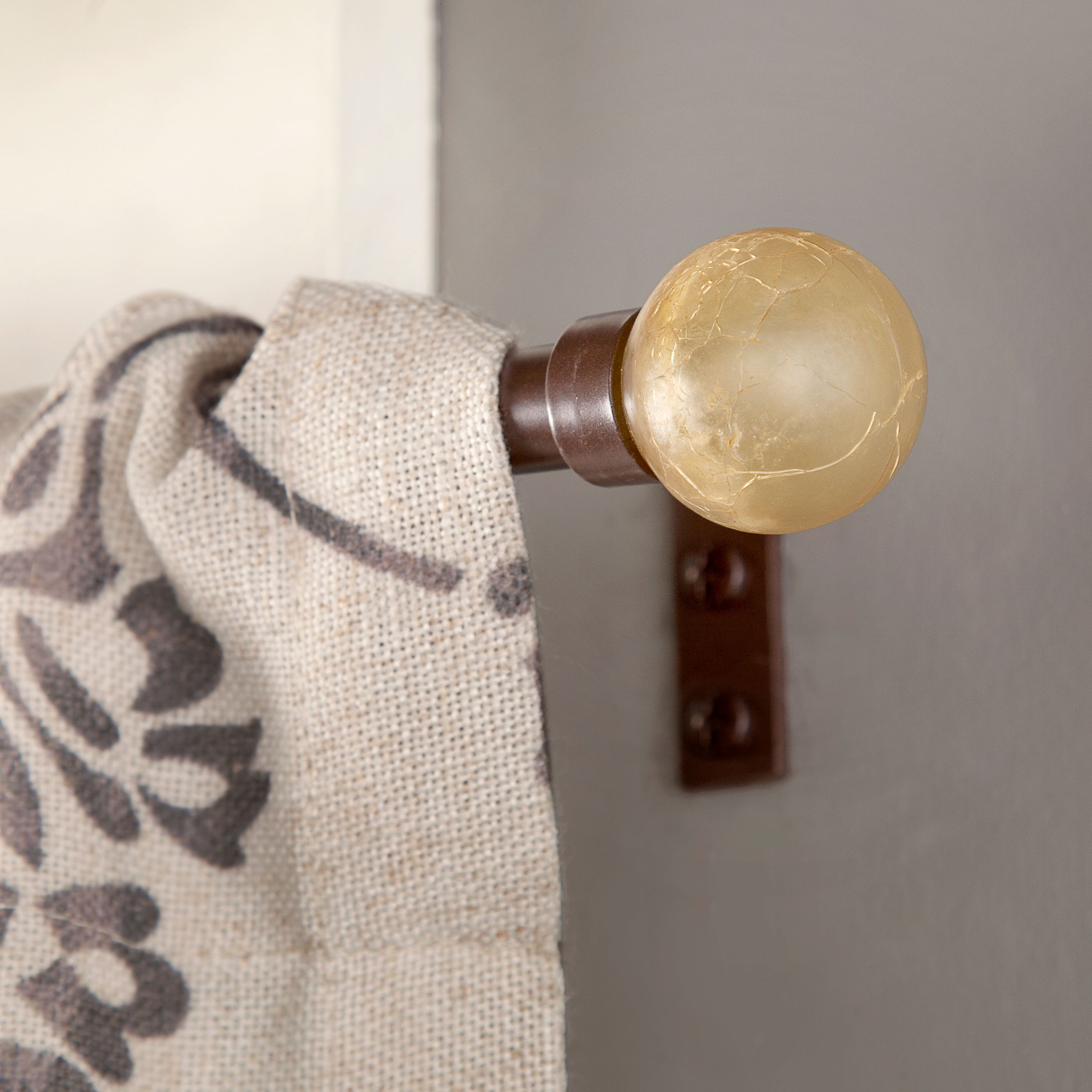 Kenney Amber Crackle Window Curtain Rod, 28-48\ by Kenney