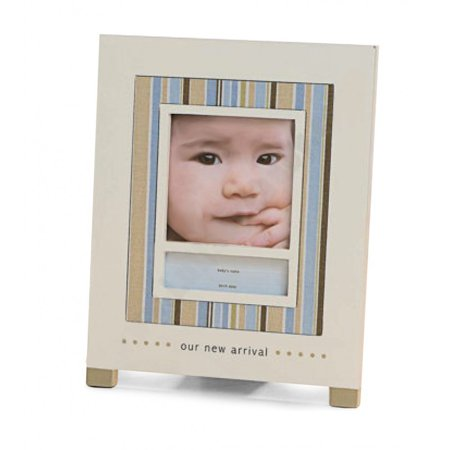 WELCOME LITTLE ONE Our New Arrival Blue frame by - 4x6, Space to personalize with name, date, quote By GUND Ship from US