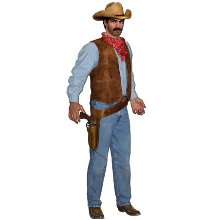 Club Pack of 12 Jointed Country Western Cowboy Cutout Party Decorations 3'