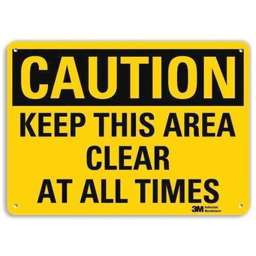 LYLE U4-1471-RA_10X7 Safety Sign,Keep Area Clr All Tms,7in.H G1813056
