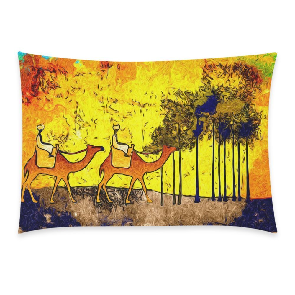 ZKGK Abstract Animal Funny Camel Men in the Forest Art Home Decor, Gorgeous Tree with... by ZKGK