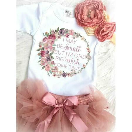 2PCS Princess Newborn Toddler Baby Girl Floral Romper Jumpsuit Tutu Skirt Dress Outfits Set