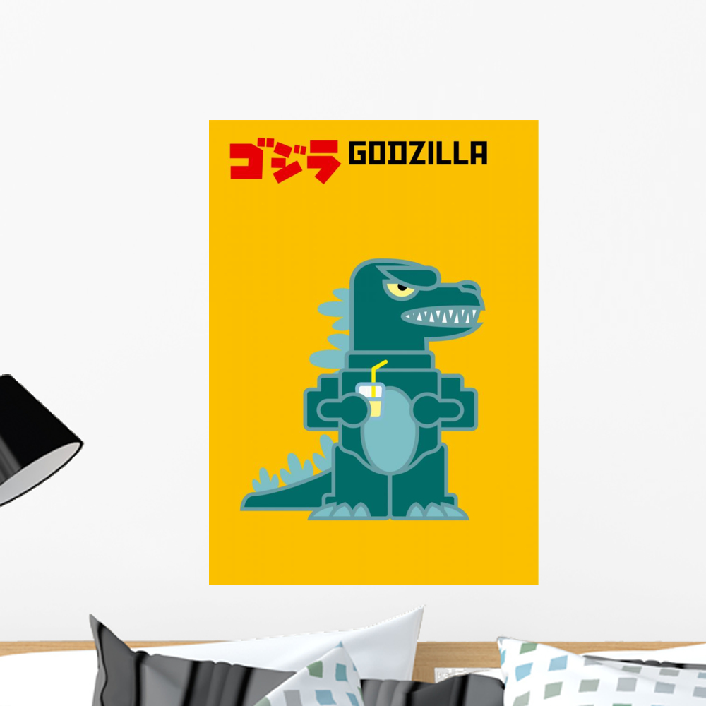 Godzilla Wall Mural by Wallmonkeys Peel and Stick Graphic (24 in H x ...
