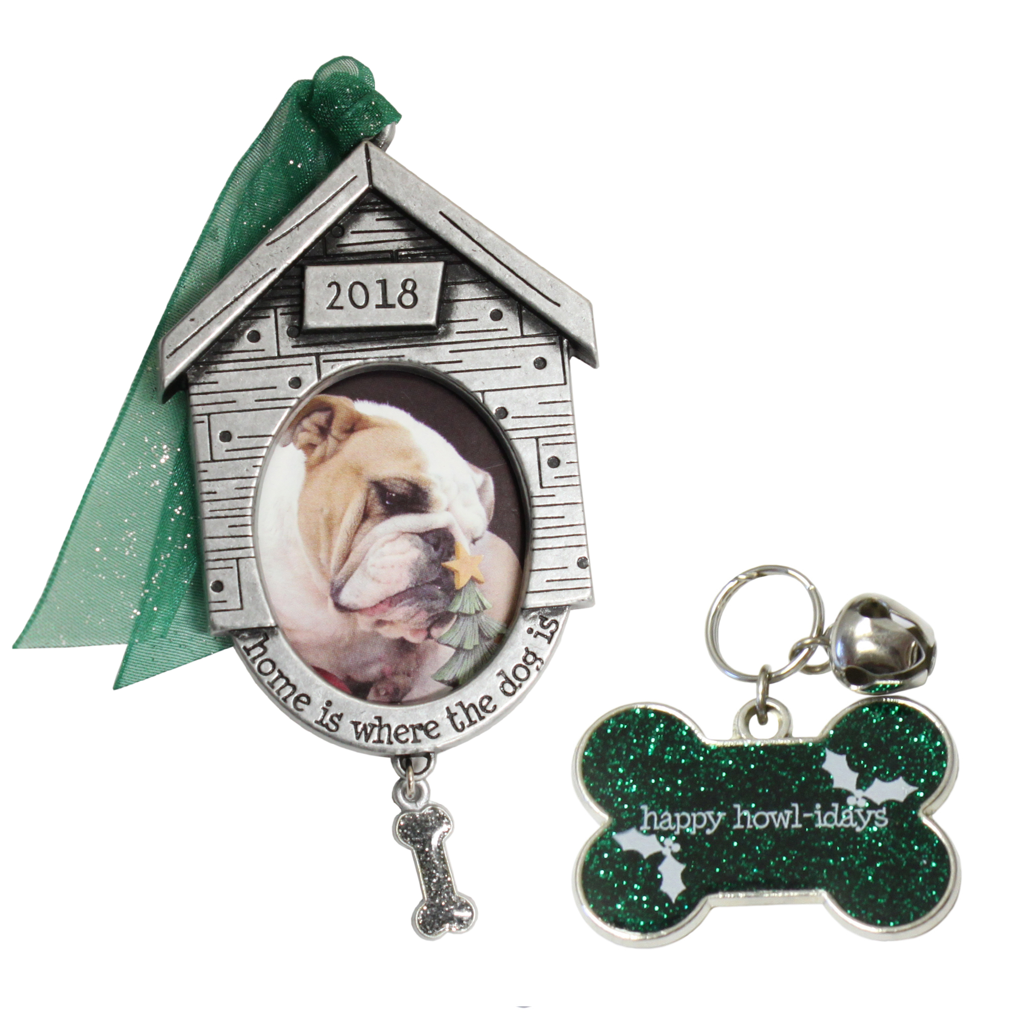 Gloria Duchin 2pc Dog Ornament and Pet Tag Set