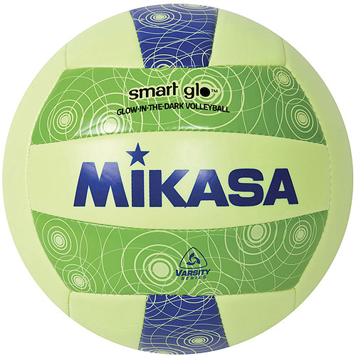 Mikasa VSG Glow in the Dark Varsity Outdoor Volleyball, Blue/Green