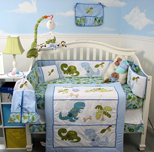 SoHo Dinosaur Baby Crib Nursery Bedding Set 14 pcs