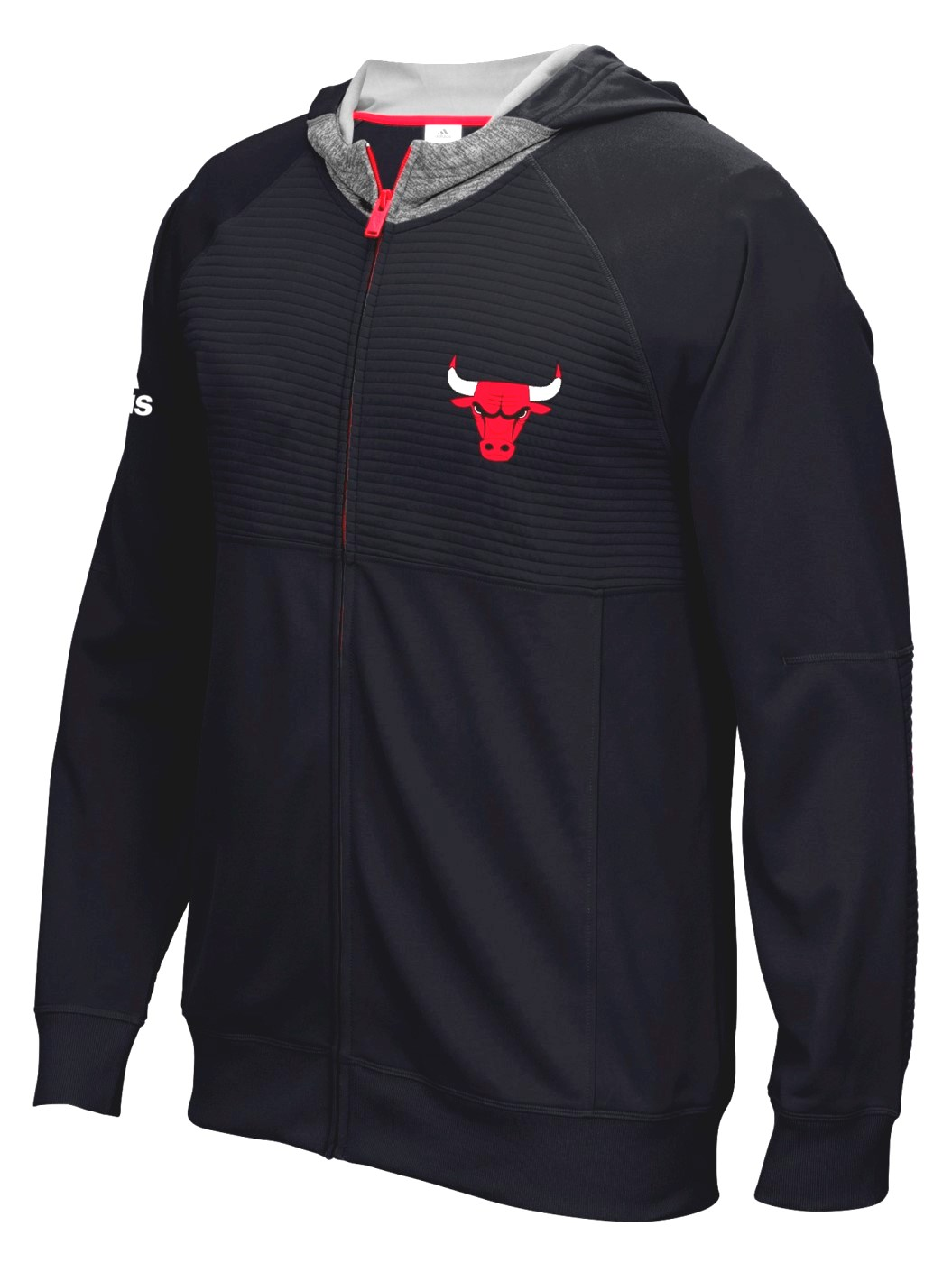 "Chicago Bulls Adidas 2016 NBA Men's On-Court ""Pre-Game"" Full Zip Hooded Jacket by Adidas"