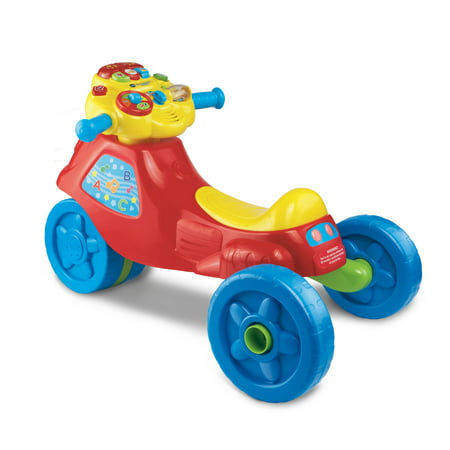 VTech, 2-in-1 Learn & Zoom Motorbike, Riding Toy for 1 Year