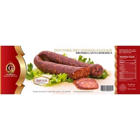 Hot Pork Sausage, LJUTA Sremska Kobasica (Georges) approx. 0.9