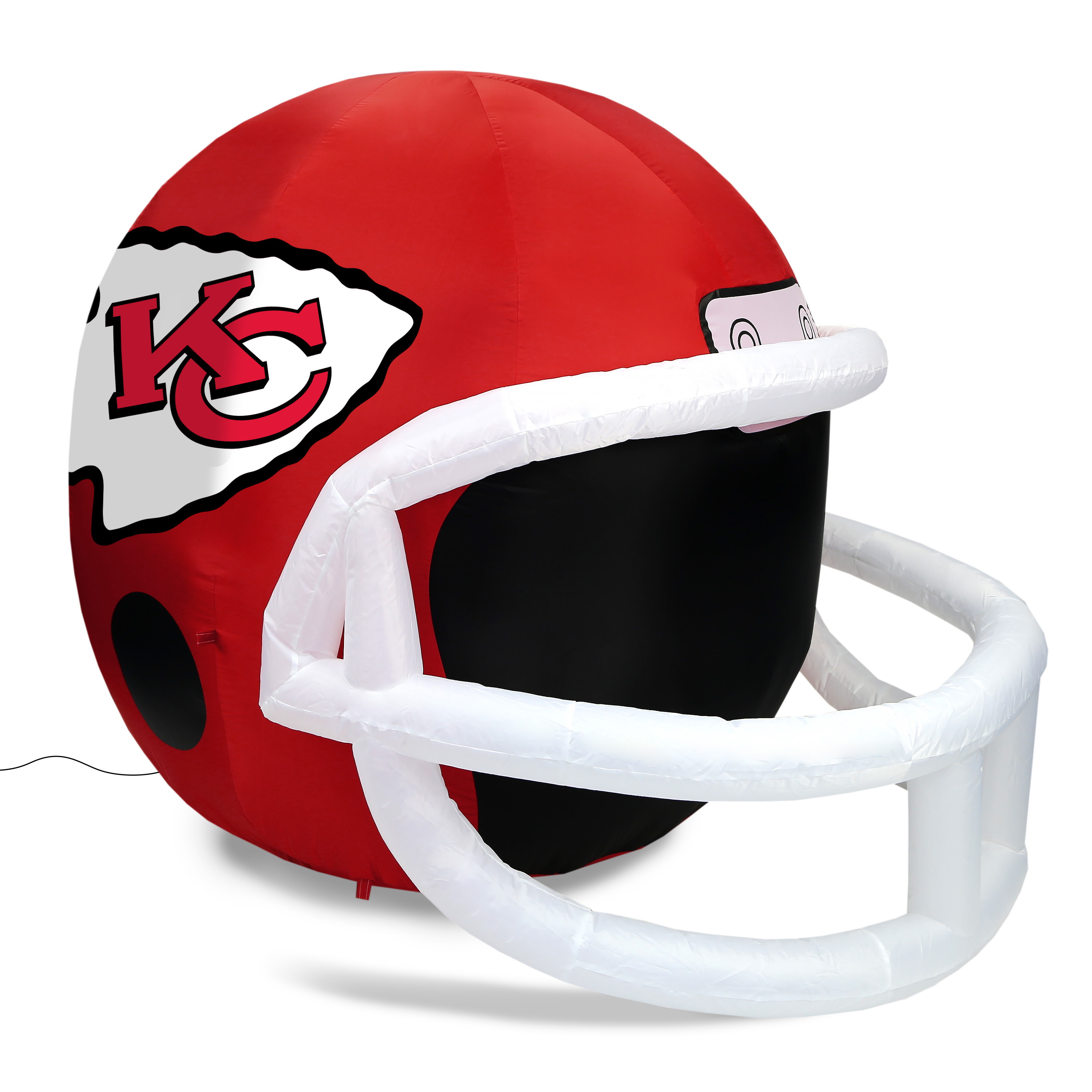 NFL Kansas City Chiefs Team Inflatable Lawn Helmet, Red, One Size