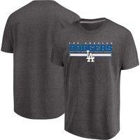 Men's Majestic Heathered Charcoal Los Angeles Dodgers All Pride T-Shirt