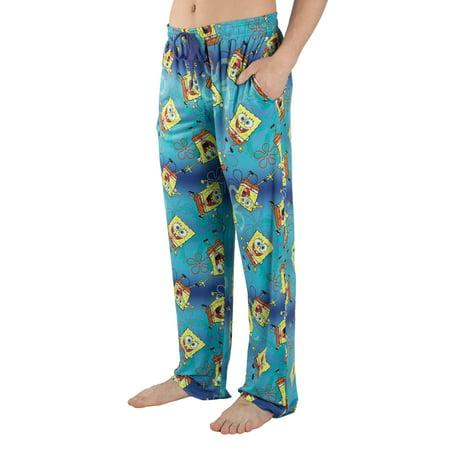 Nickelodeon Men's Spongebob Squarepants Print Pajama Lounge Pant - Spongebob Pj