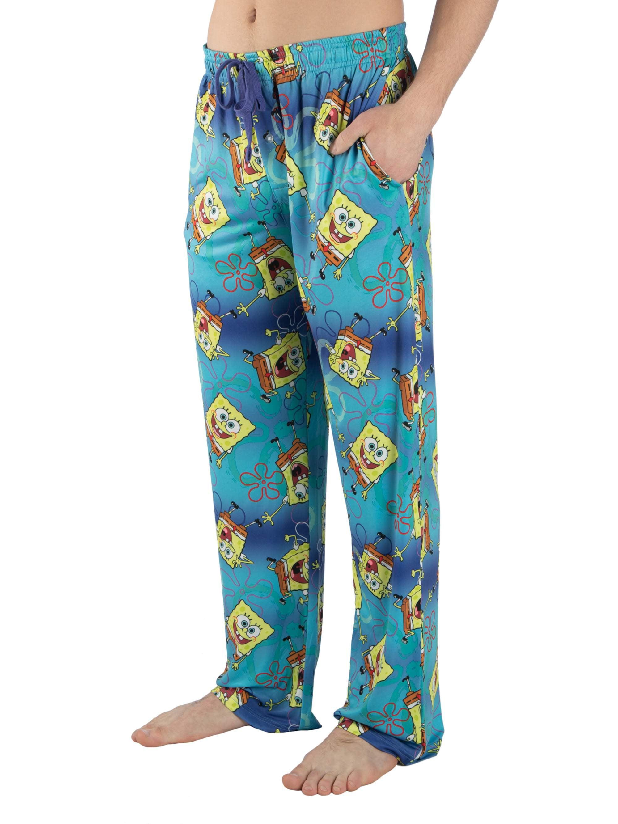 Nickelodeon Men's Spongebob Squarepants Print Pajama Lounge Pant