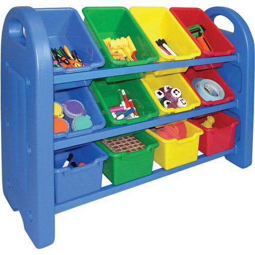 ECR4Kids 3-Tier Toy Storage Organizer with 12 Bins by Early Childhood Resources