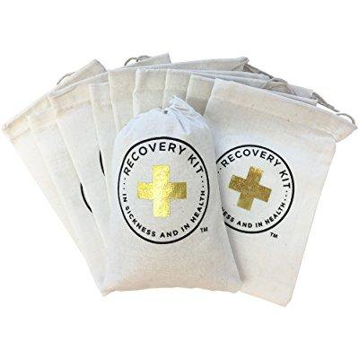 design corral gold foil hangover kit wedding favor bags 4 x 6 inch