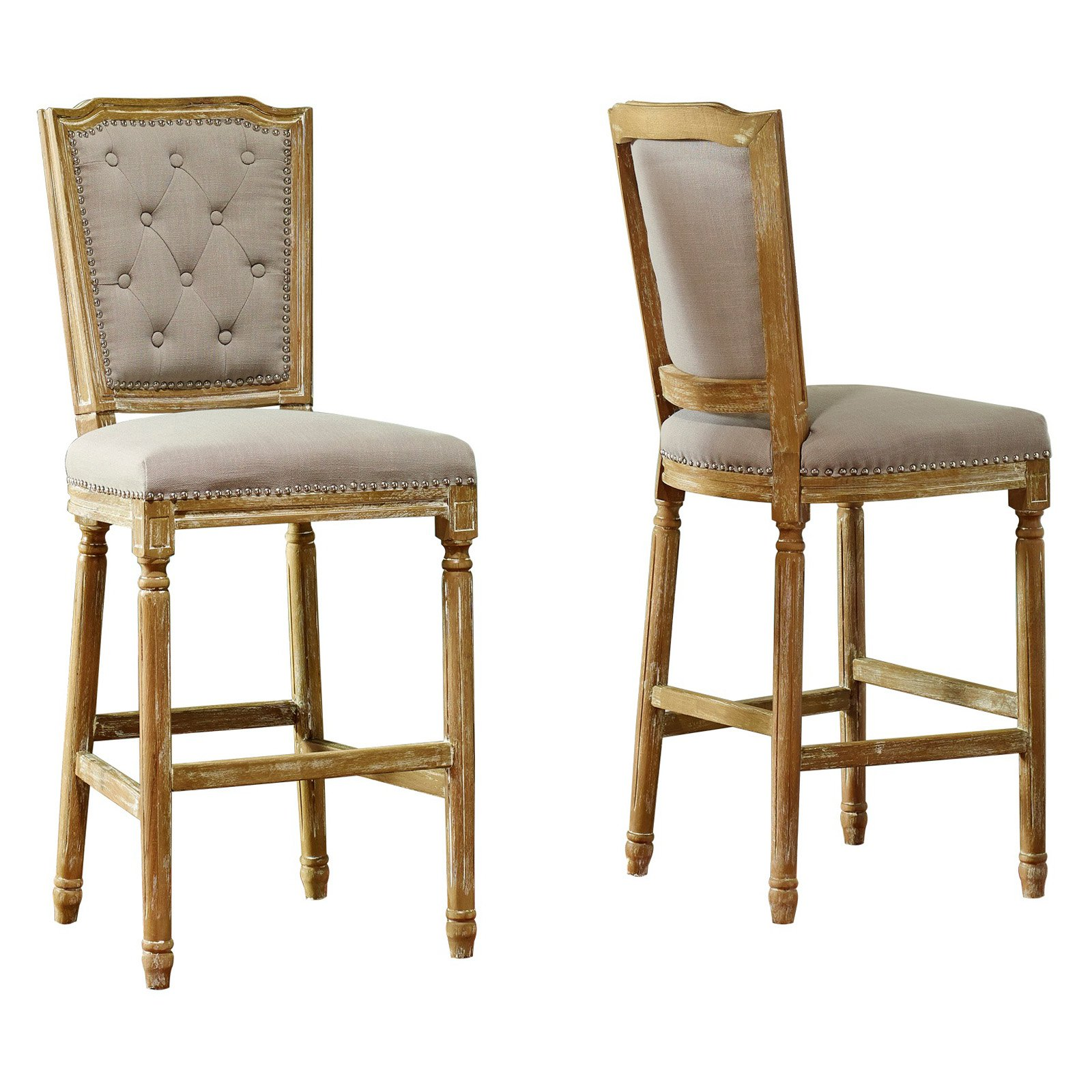 Baxton Studio Julie French Vintage Bar Stool Walmart Com