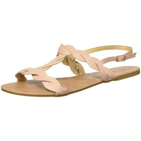 Embellished T-strap Sandals (Women's T-Strap Flat Sandal )