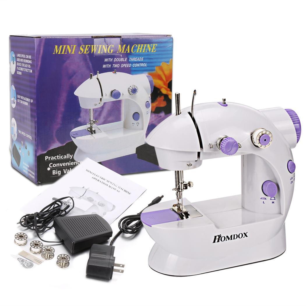 Fashion Mini Portable Sew 2-Speed Sewing Machine With 4 Bobbins  CCGE