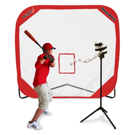 Heater Sports Big League Soft Toss Pro & Spring Away Pro 7x7 Pop-Up Net (Up Sports)