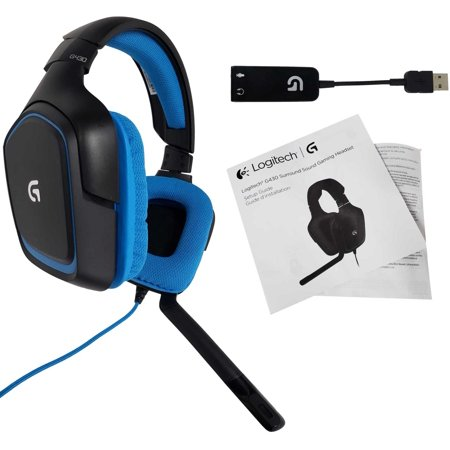 Logitech G430 Stereo Gaming Noise-cancelling Wired Gaming Headset For PC, PS3, PS4 (981-000536) (Non-Retail