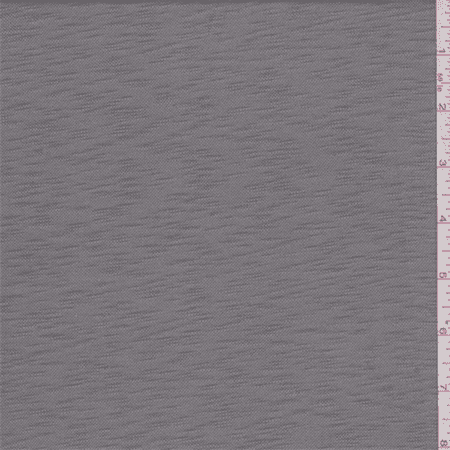 Concrete Fabric - Concrete Grey Slubbed Jersey Knit, Fabric Sold By the Yard