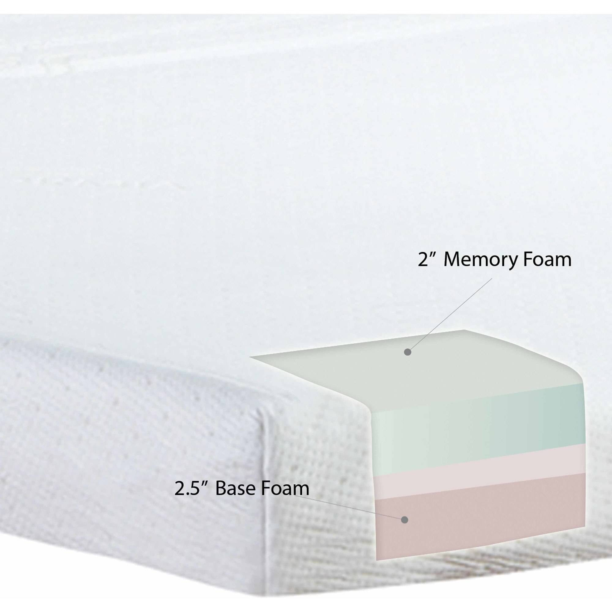"modern sleep memory foam 4.5"" sofa bed mattress, multiple sizes"
