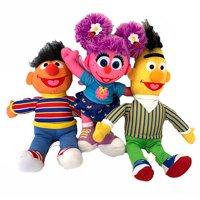 Sesame Street Plush Toy Set of 3 - Bert, Ernie, Abby