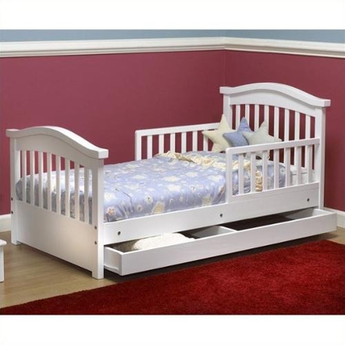 Sorelle Joel Solid Pine Toddler Bed in White