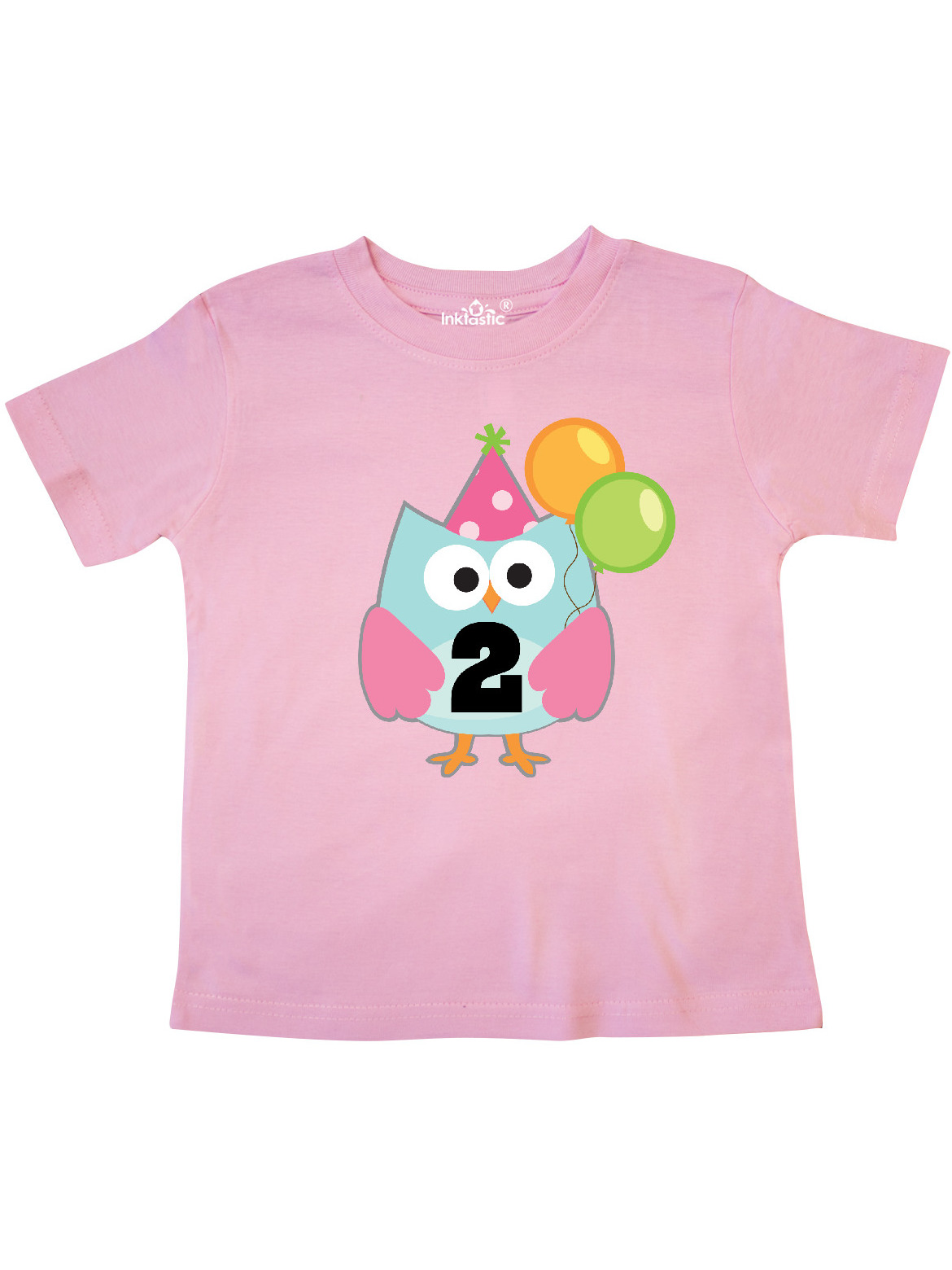 inktastic Owl Pink Polka Dot Toddler T-Shirt