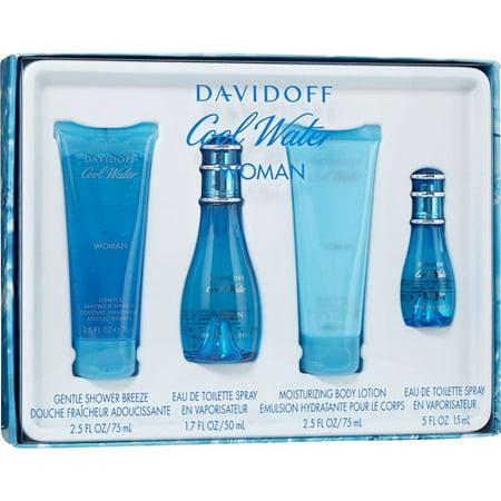 davidoff cool water woman 39 s fragrance gift set. Black Bedroom Furniture Sets. Home Design Ideas