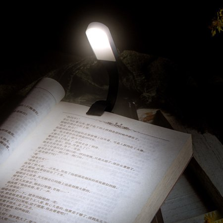 Flexible LED Dimmable Eye-Protection Touch Sensor Light Reading Book Clip Lamp - image 4 de 7