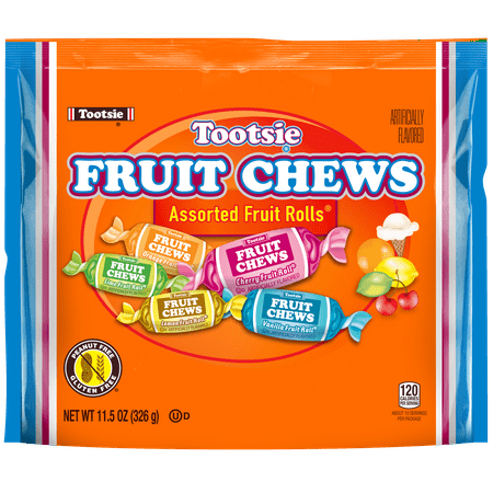 Tootsie Fruit Chews Assorted Fruit Flavored Rolls, 11.5 Oz.